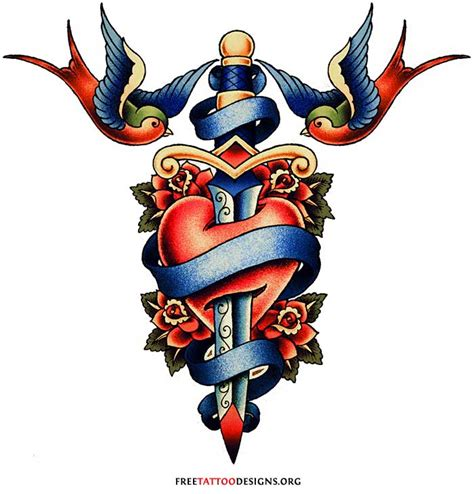 old school swallow tattoo designs skool traditional on school tattoos