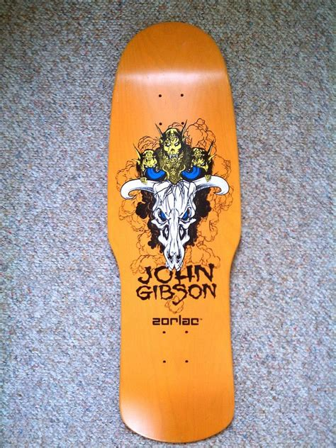 The Skull Bat Skateboard Intl gibson zorlac reissue orange stain skateboard deck