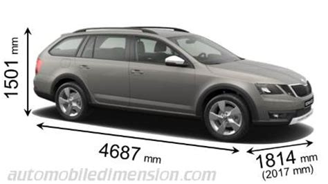 skoda octavia scout  dimensions boot space  interior