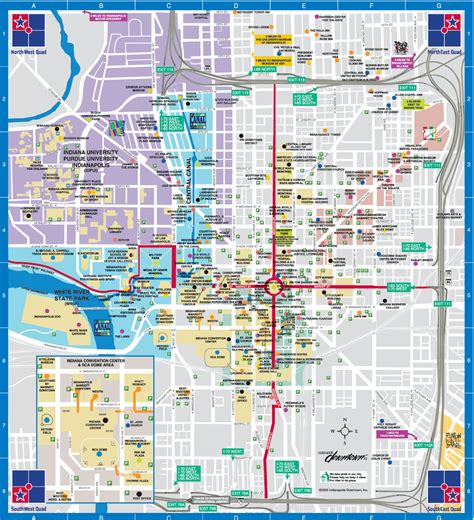 map of downtown indianapolis bnhspine com