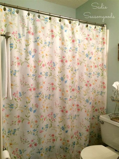 antique shower curtains vintage bed sheet diy shower curtain hometalk
