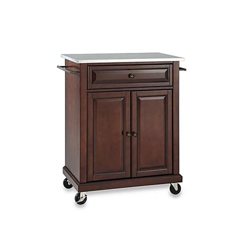 country kitchen islands crosley island carts for small buy crosley stainless top rolling portable kitchen cart