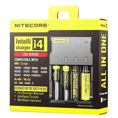 Nitecore New I4 Original Intellicharger Battery Charger 4slot 18650 nitecore i4 charger east coast vape co