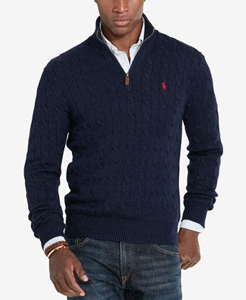 polo ralph s cable knit mock neck sweater