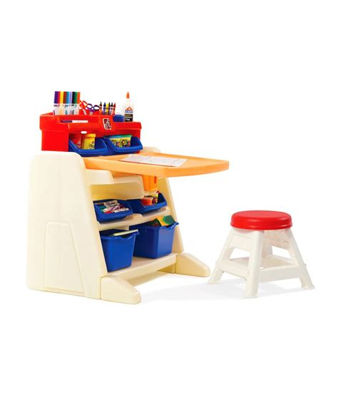 flip and doodle easel desk step 2 flip and doodle easel desk stool kids furniture