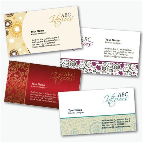 Interior Decorating Business Card Templates by ビジネスでも使えそうなレトロ調名刺テンプレート4コ Psd 名刺専科