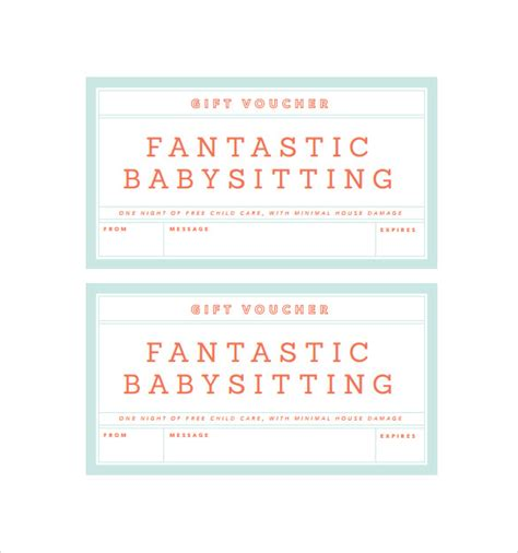 babysitting coupon template search results for printable babysitting coupon template