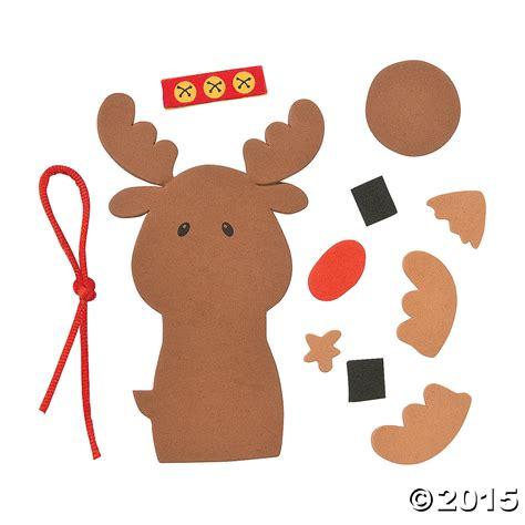 cute reindeer ornament craft kit 12 pk party supplies
