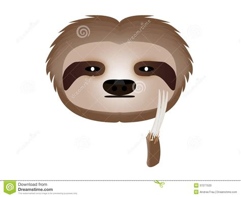 sloth thoughtful stock illustration image of posted