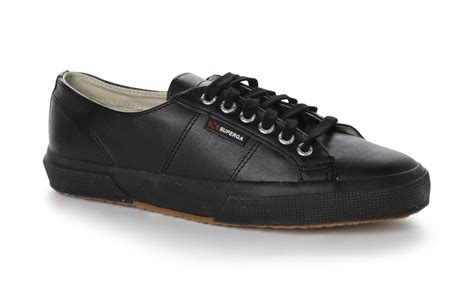 superga unisex 2750 fglu lace up leather trainers tennis