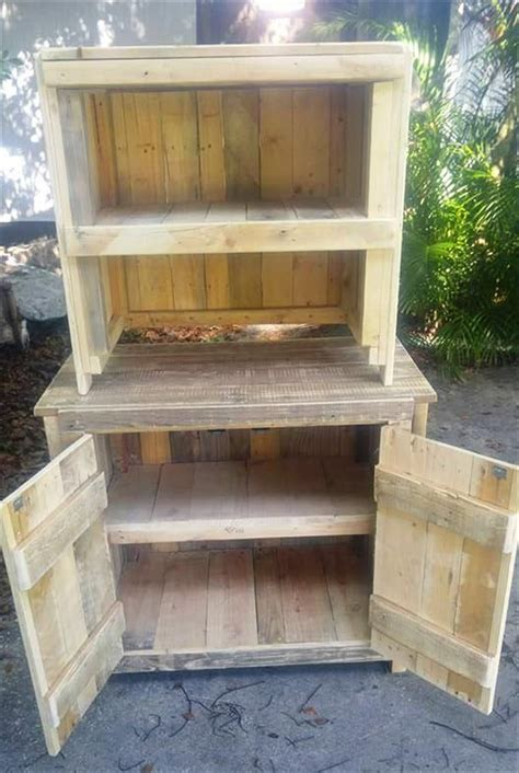 diy kitchen furniture best 25 pallet cabinet ideas on pinterest kitchen