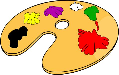 paint colors clipart painter color palette clip at clker vector clip
