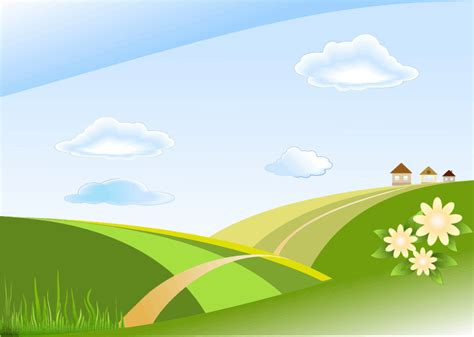 blue sky landscape clipart green and blue sky landscape
