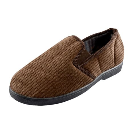 mens comfy slippers mens corduroy comfy slippers with non slip sole