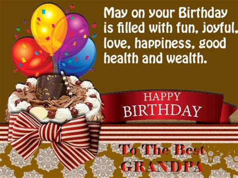 Birthday Wishes Health Wealth And Happiness Birthday Wishes For Grandpa Birthday Messages For Your
