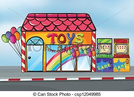 Home Decoration Items Online by Vector Of A Toy Shop Illustration Of A Toy Shop Near A