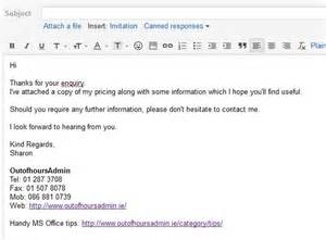 inquiry email template how to set up an email template in gmail outofhoursadmin