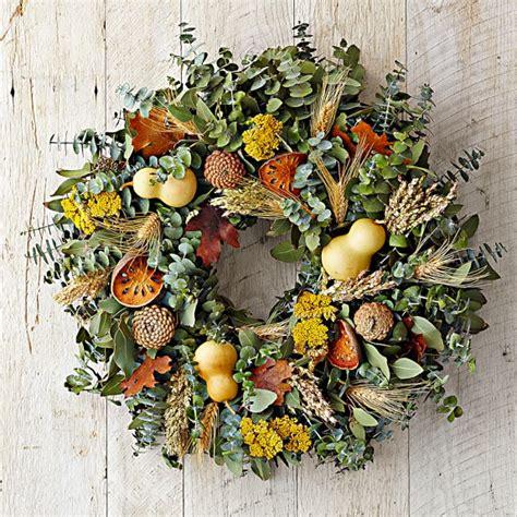 decorative quince gourd quince wreath williams sonoma