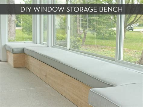 diy window bench seat with storage make it custom diy window bench with storage 187 curbly