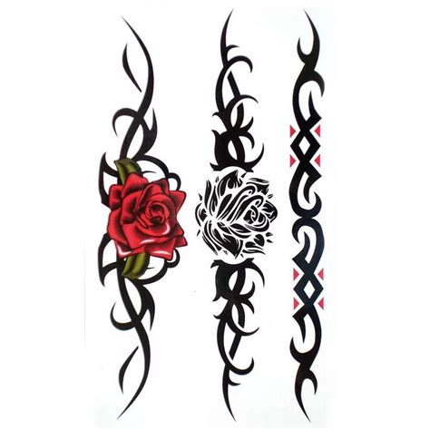 roses with tribal tattoos black designs ideas photos images memoir tattoos