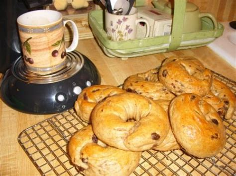 bread machine low sodium cinnamon raisin bagels recipe