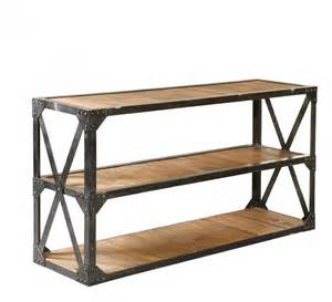 Industrial Console Table Industrial Reclaimed Console Table 63 Quot Wood And Metal Media Console Bleeker Console Table