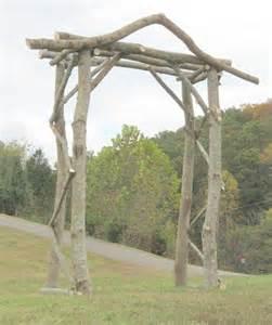 Wedding Trellis Rental Rustic Wedding Arbor Log Arbor Lawn And Garden Arbor