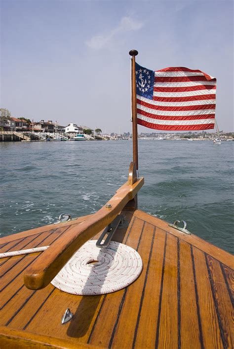 boat flags images american flag on the bow of boat photograph by james forte