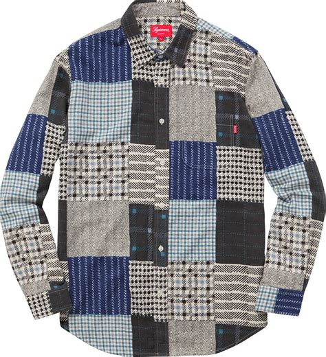 Patchwork Flannel - w2c supreme patchwork flannel fashionreps