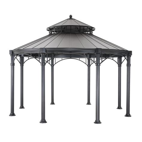 sunjoy gazebo sunjoy 14 ft x 14 ft black top gazebo