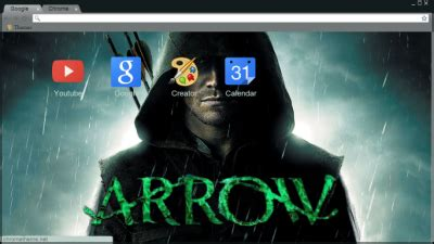 theme google chrome arrow green arrow chrome theme themebeta