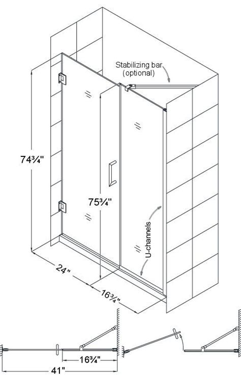Shower Door Width by Glass Shower Doors And Hardware For The Lowest Prices
