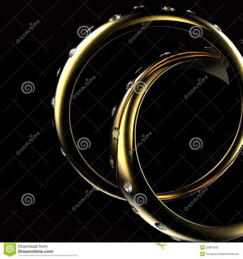 gold wedding ring with symbol stock