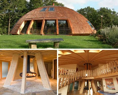 rotating eco friendly dome home spins on a central axis