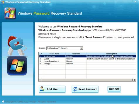 password reset software xp free download windows 7 password recovery software