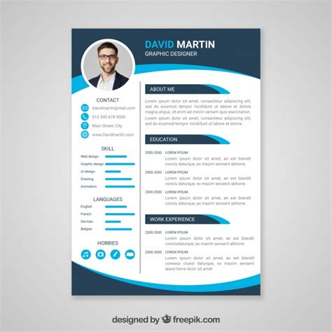 Free Cv by Professional Curriculum Vitae Template Vector Free