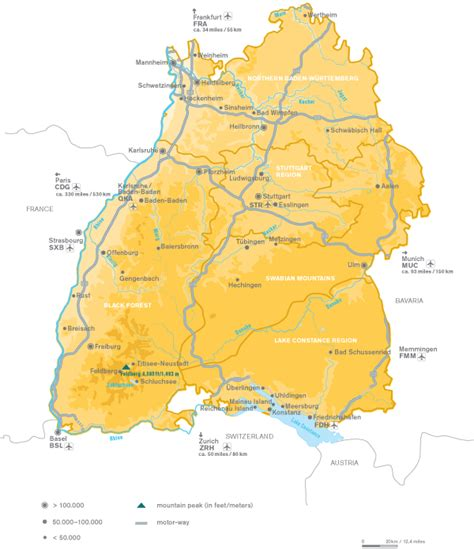south west germany map travels with the swabian sun forktales
