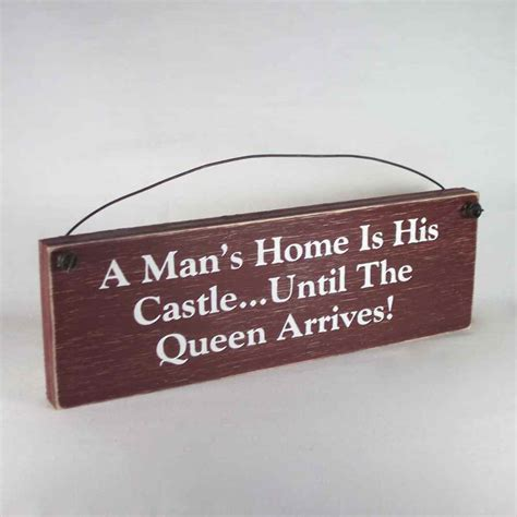 funny home decor signs funny signs country home decor man s home castle queen ebay
