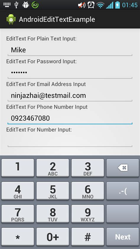 android layout xml edittext 12 edittext in android exle codes screenshots more