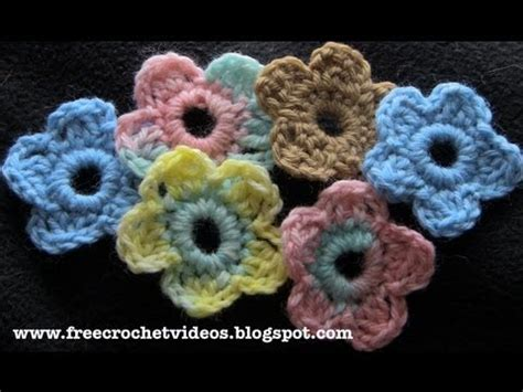 crochet flower pattern easy youtube easy crochet flower youtube