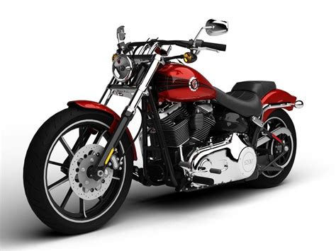 Harley Davidson Softail Models by Harley Davidson Fxsb Softail Breakout 2015 3d Model Max