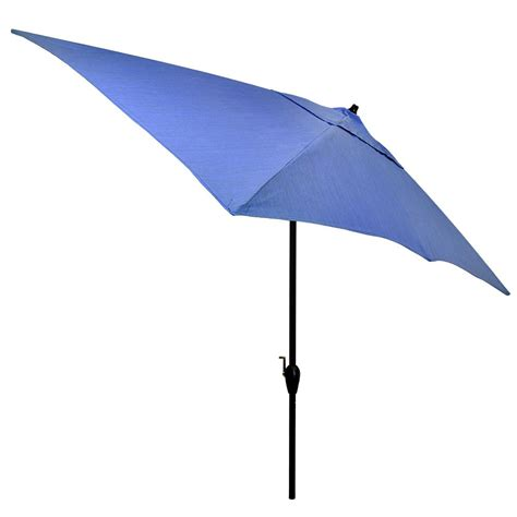 10 Patio Umbrella Hton Bay 10 Ft X 6 Ft Aluminum Patio Umbrella In Sunbrella Spectrum Sand With Push Button
