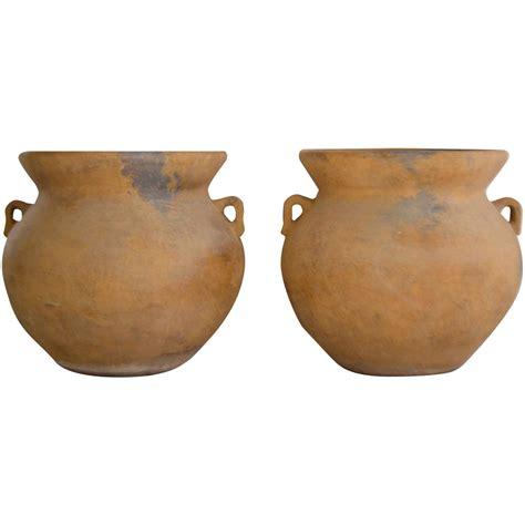 pair of monumental italian terracotta urn form garden