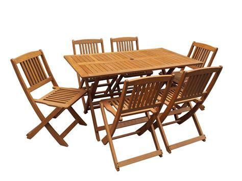 table et chaise de jardin en bois salon de jardin bois exotique quot hongkong quot maple marron