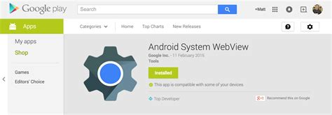 webview android releases webview for lollipop devices to the play store talkandroid