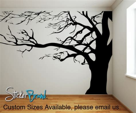 vinyl wall decal sticker large spooky tree ac122 stickerbrand housewares on artfire