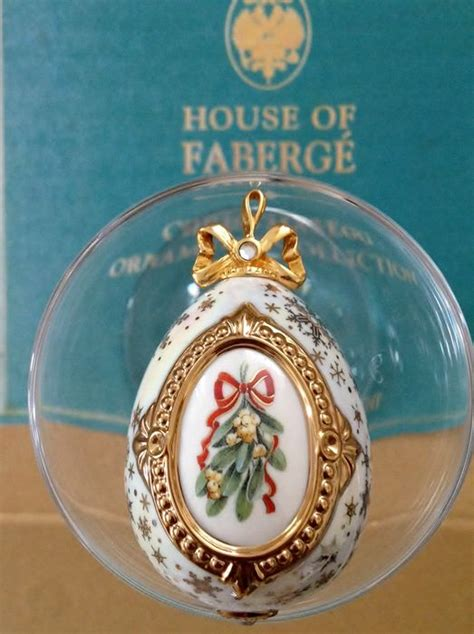 franklin mint house of faberg 233 christmas egg ornament
