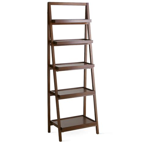 Furniture Chic Tier Ladder Leaning Bookcase Shelf For Ladder Bookcase