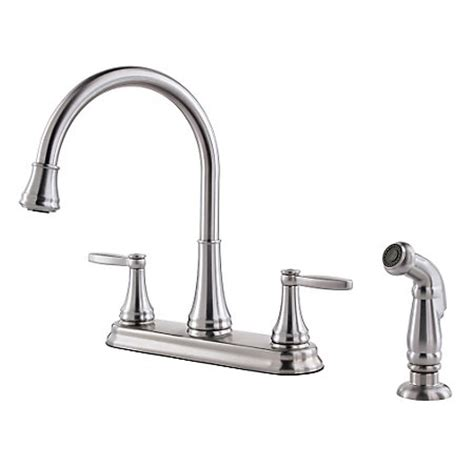stainless steel glenfield 2 handle kitchen faucet f 036