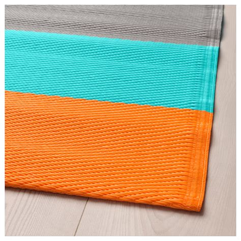 rug flatwoven sommar 2018 rug flatwoven in outdoor striped orange 75x200 cm ikea